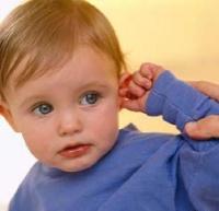Диатез за ухом